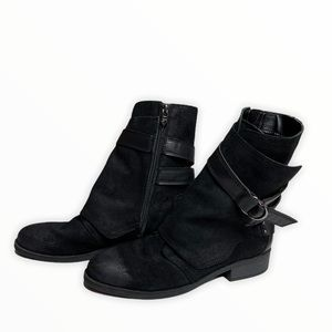 Fergie Neptune Black Ankle Boots